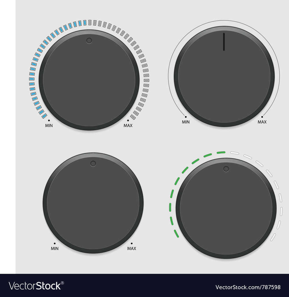 Four volume dial vector | Price: 1 Credit (USD $1)