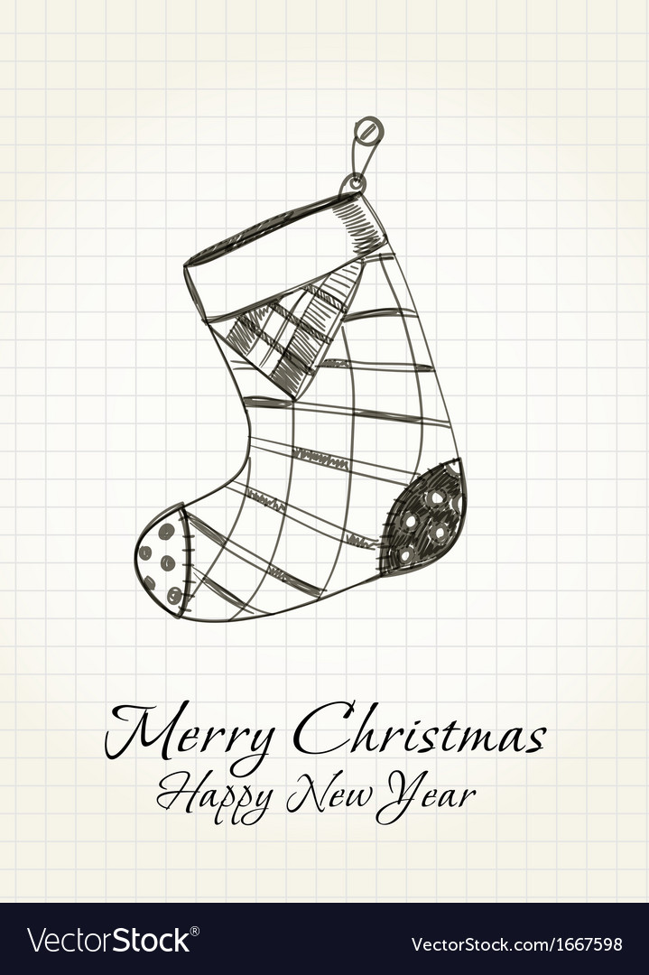 Happy christmas card vector | Price: 1 Credit (USD $1)