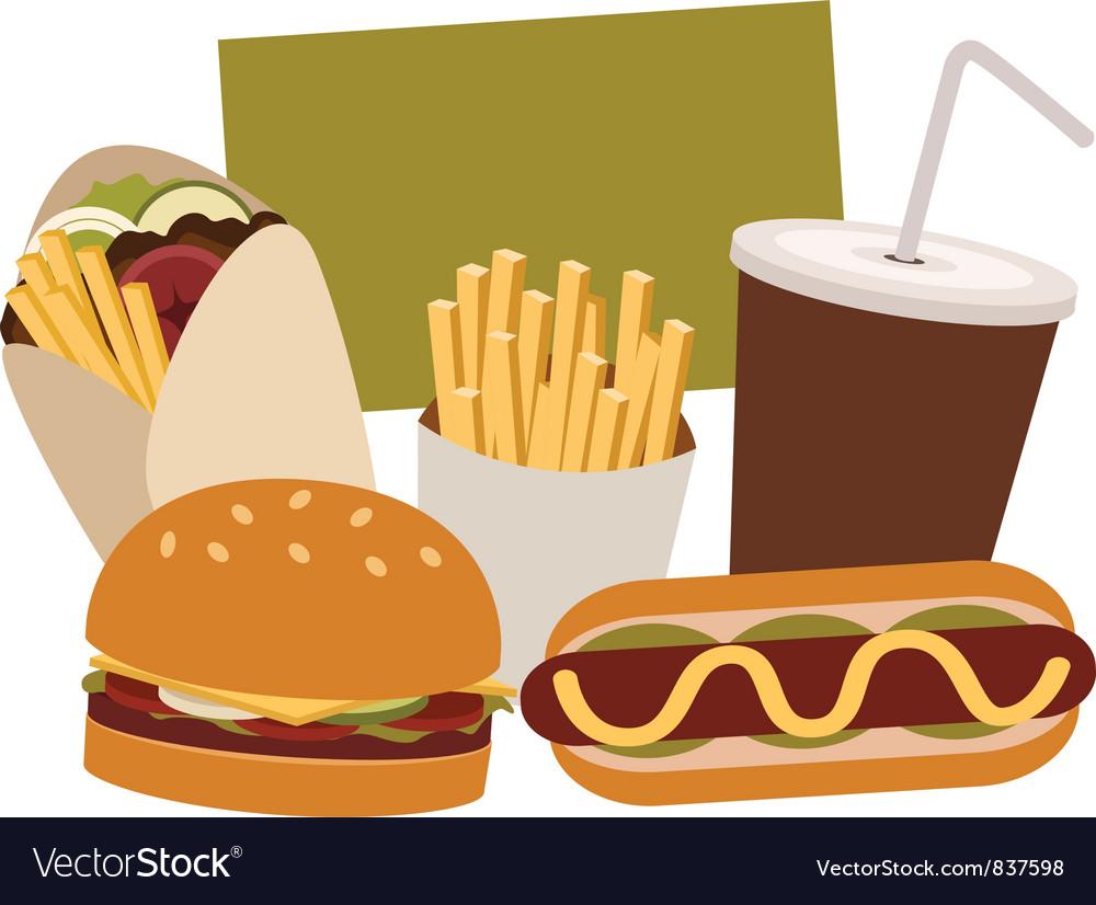 Junk food vector | Price: 3 Credit (USD $3)