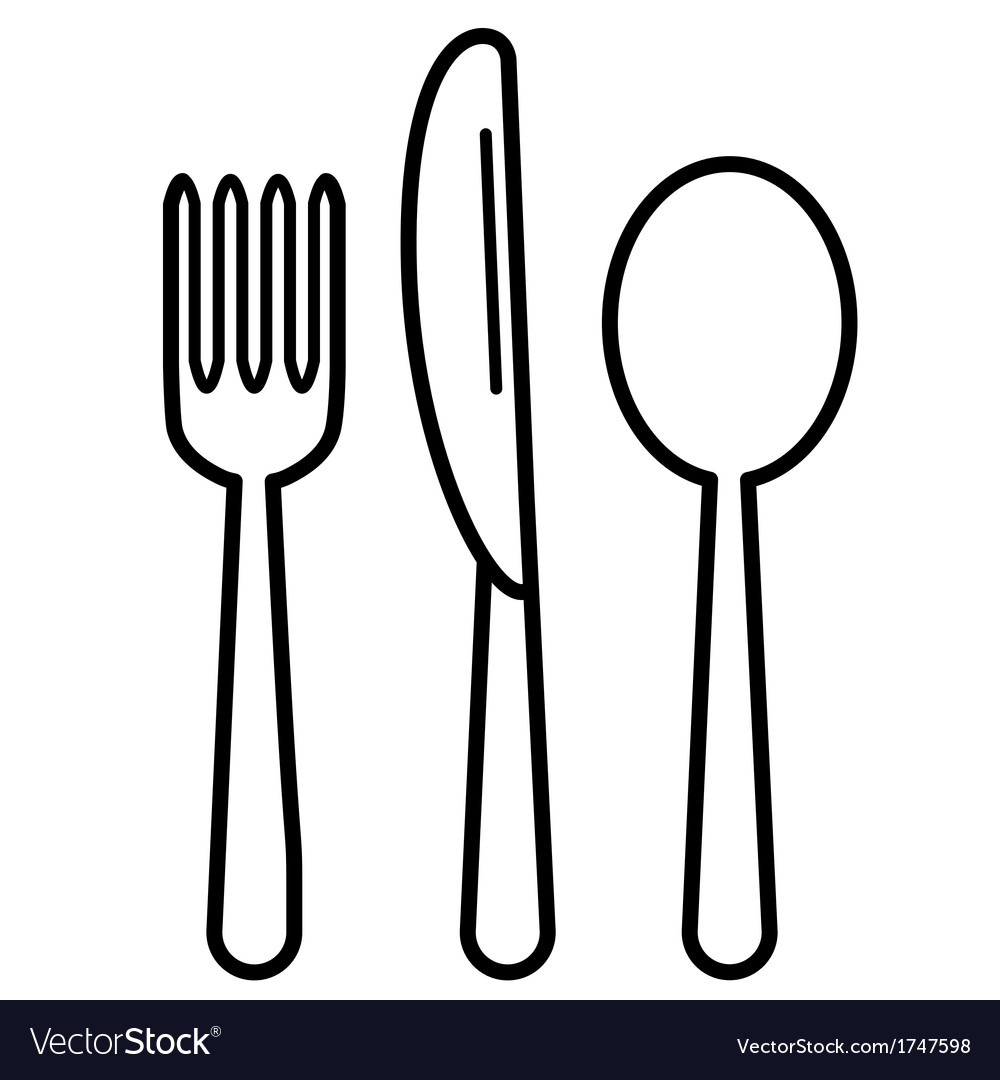 Knifefork and tablespoon black vector | Price: 1 Credit (USD $1)