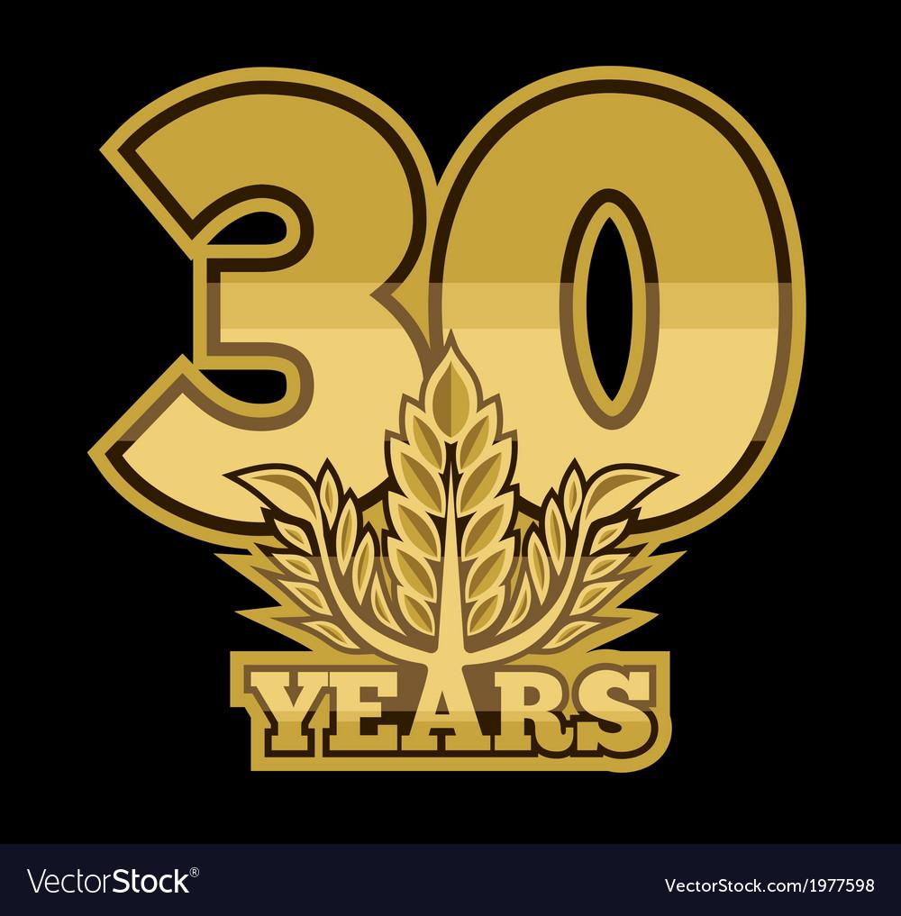 Laurelnew new 30 godina vector   Price: 1 Credit (USD $1)