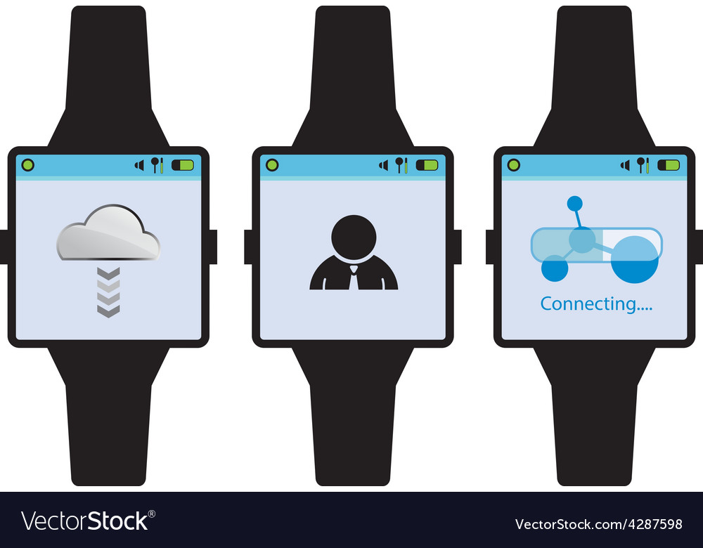 New generation smart watch concept vector | Price: 1 Credit (USD $1)