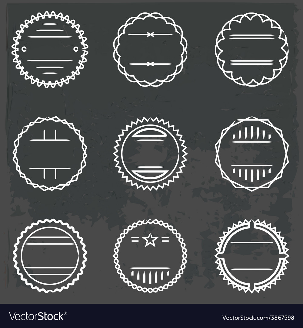 Set of emblems and badges vector | Price: 1 Credit (USD $1)