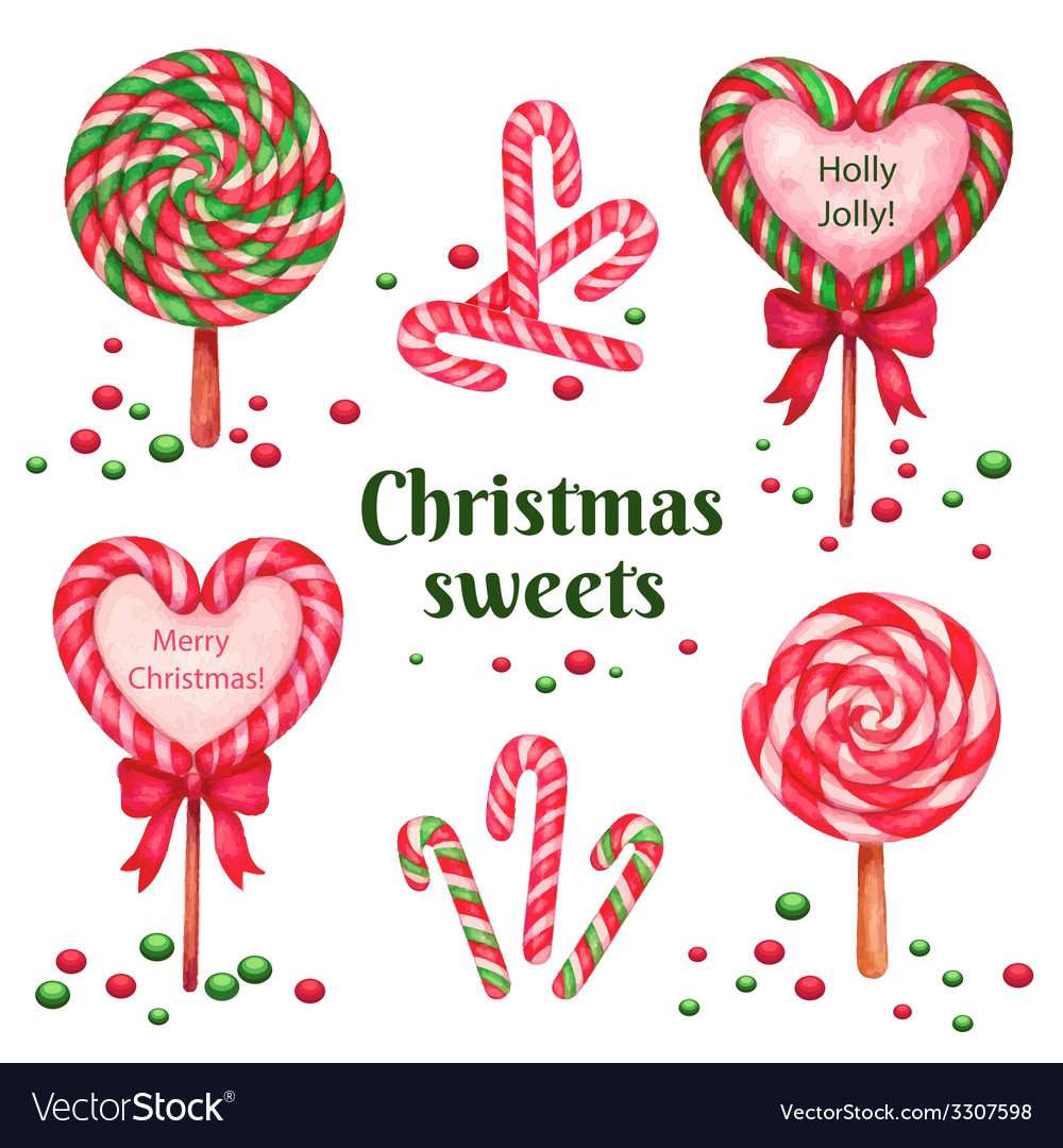Set of sugar candies for holiday vector | Price: 1 Credit (USD $1)