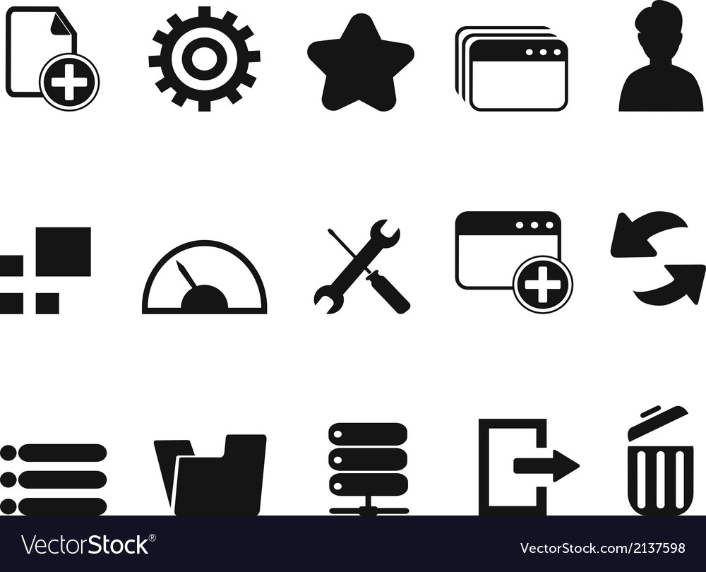 Web dashboard icons set vector | Price: 1 Credit (USD $1)