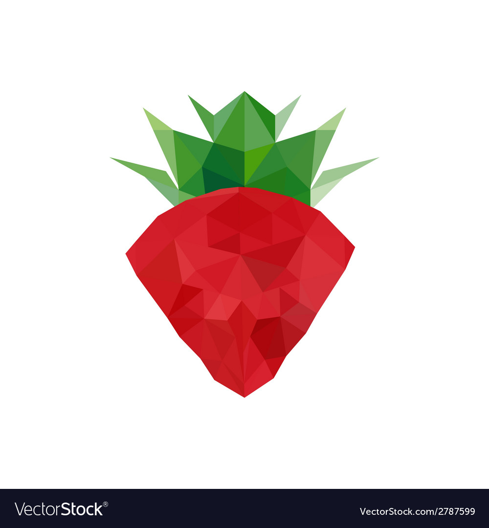 Abstract origami strawberry vector | Price: 1 Credit (USD $1)