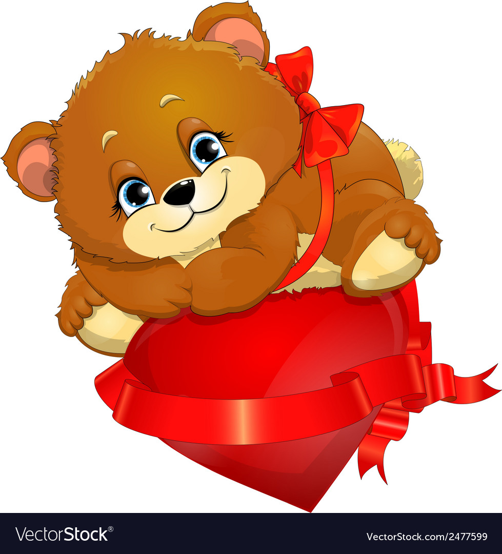 Bear and heart vector | Price: 1 Credit (USD $1)