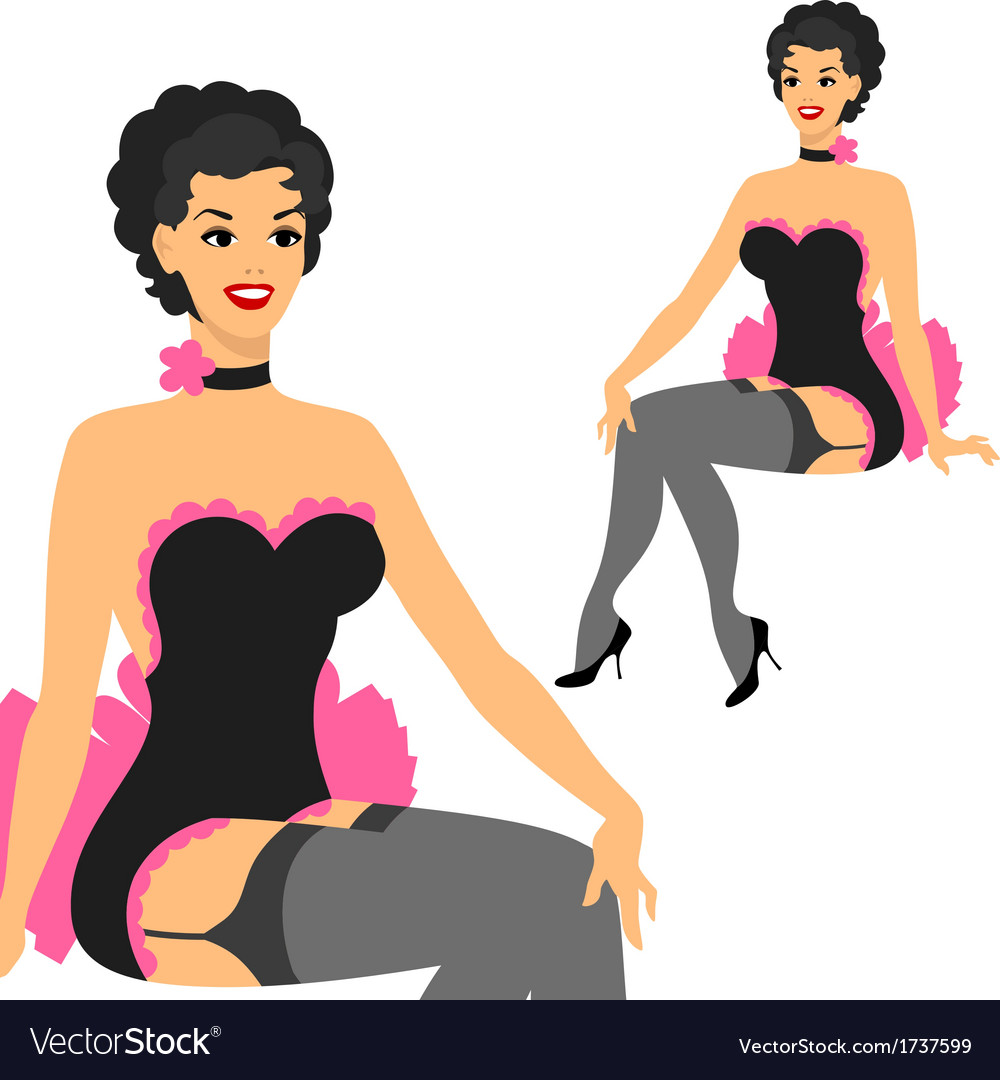 Beautiful pin up girl 1950s style vector | Price: 1 Credit (USD $1)