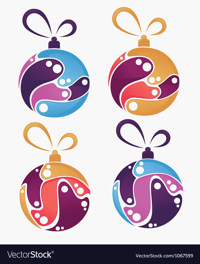 Collection of christmas balls and decoration vector | Price: 1 Credit (USD $1)