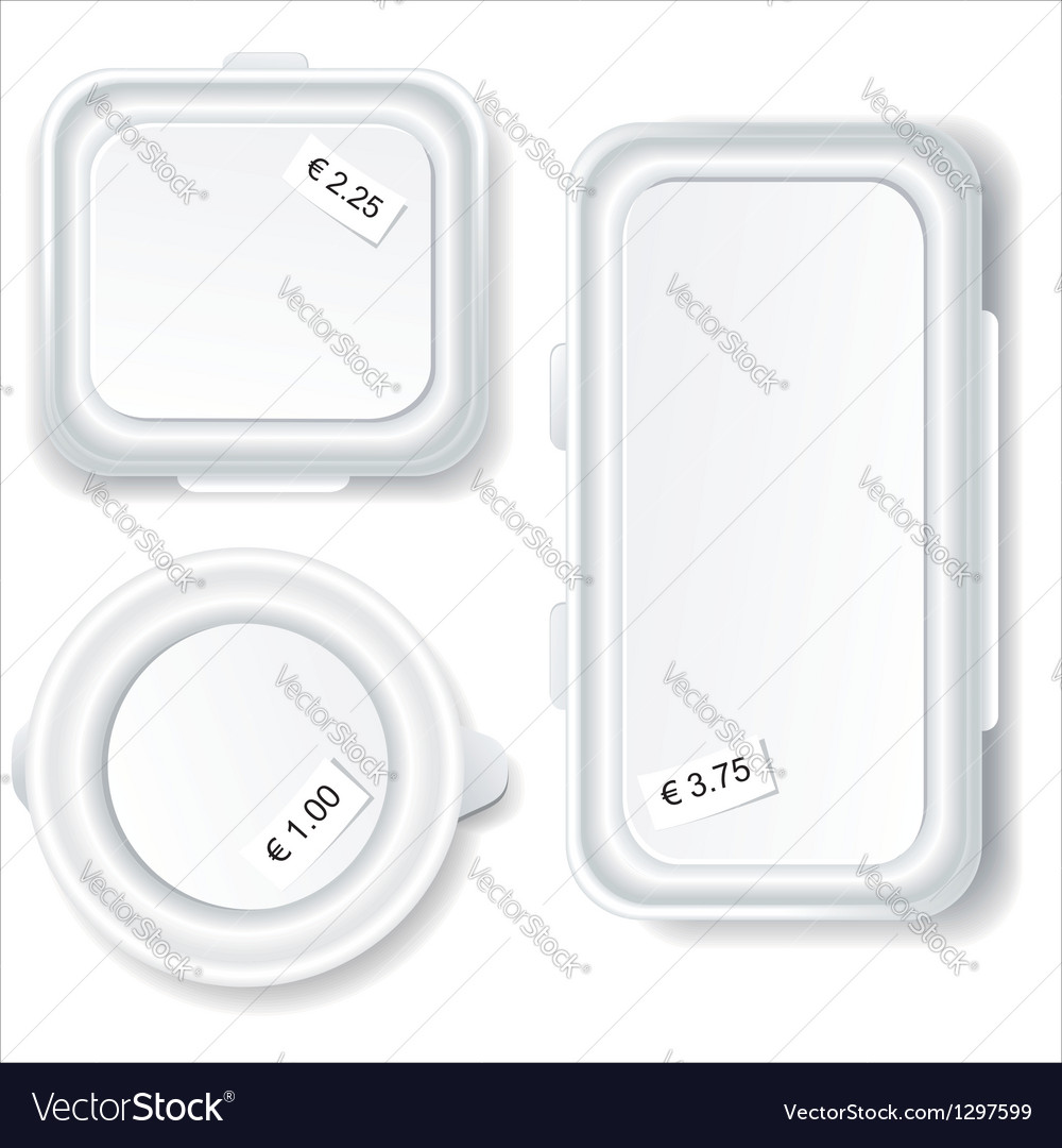 Empty plastic container vector | Price: 1 Credit (USD $1)