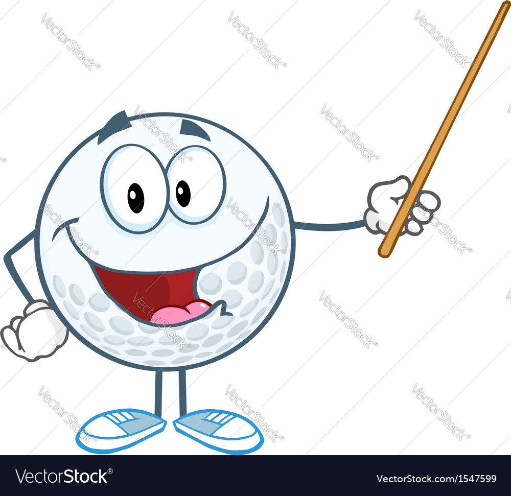Golf lessons vector