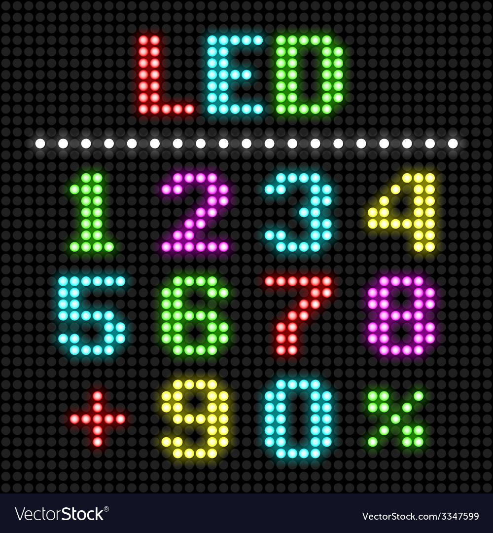 Led display numbers vector | Price: 1 Credit (USD $1)