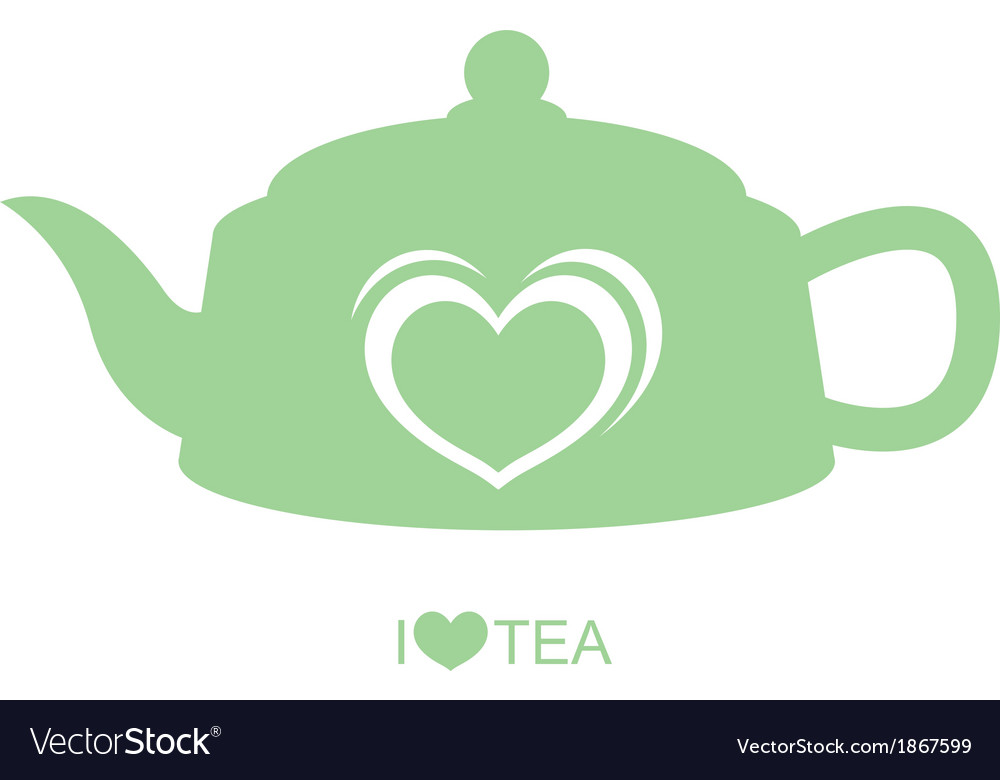 Teapot with heart vector | Price: 1 Credit (USD $1)