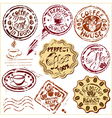 Collection of design elements - coffee cups icons vector