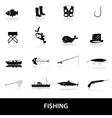 Fishing icons set eps10 vector