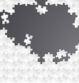 Abstract white group puzzle with black background vector