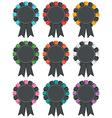 Black rosettes vector