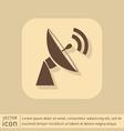 Satellite dish icon radar sign antenna symbol vector