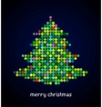 Xmas background with pixel christmas tree vector