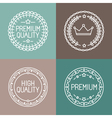 Premium quality emblems vector