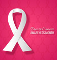 Breast cancer awareness month pink background vector