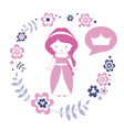 Design with cute princess vector
