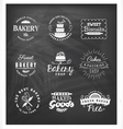 Typographical bakery badges and design elements vector