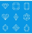 Blueprint icon set diamond vector