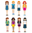 Women with no faces vector