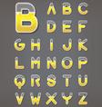 Beer letters set beverage alphabets vector