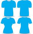 T shirt blue template vector