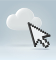 Pointing on cloud vector