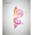 Liquid art artistic design element vector