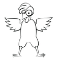 Chicken bw vector