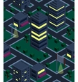 Seamless background night city isometric vector