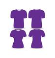 T shirt purple template vector