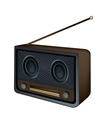 Old radio background vector
