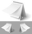 Blank flip calendars vector