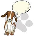 A dog thinking vector