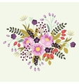 Flowers floral composition on a white background vector