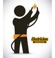 Electrician design vector