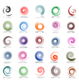 Spiral design elements vector