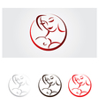Mother baby care vector