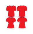 T shirt red template vector