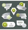 Set of green progress version step icons eps 10 vector