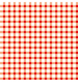 Seamless retro white-red square tablecloth vector