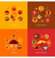 Africa icons flat composition vector