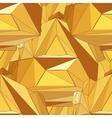Gold seamless polygonal pattern vector
