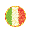 Pizza as italian flag vector