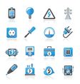 Electricity and energy icons vector